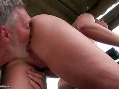 Young curvy ignorance with racy botheration gets violated by mature