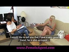 FemaleAgent Stingy blonde anal get rid of maroon
