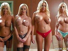 Blondes Courtney Taylor, Nikki Benz, Summer Brielle, and Nina Elle  - Pornsharing.com sex videoclip