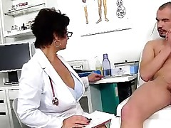 Dirty czech cougar Gabina is insane doctor in cfnm action
