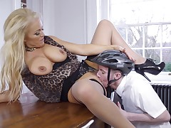Fucking on the table with Rebecca Jane Smyth and her husband